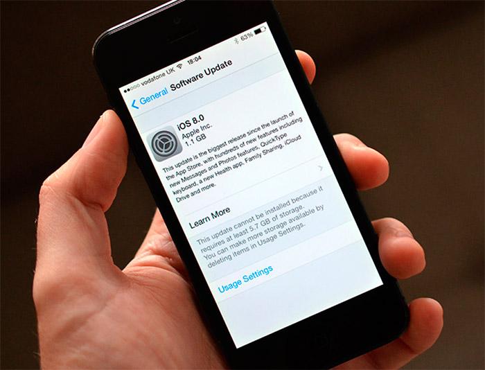 Actualizacion para iOS 8