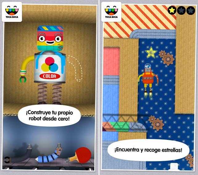 Aplicación infantil para iPhone y iPad Toca Robot Lab
