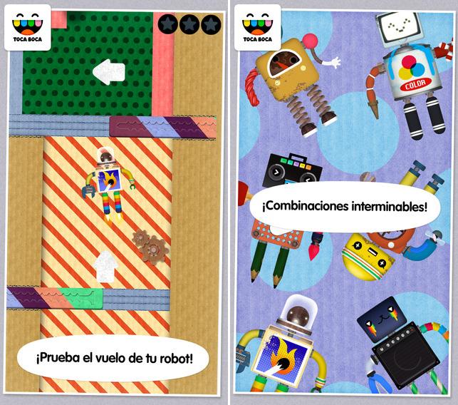 Aplicación para niños Toca Robot Lab