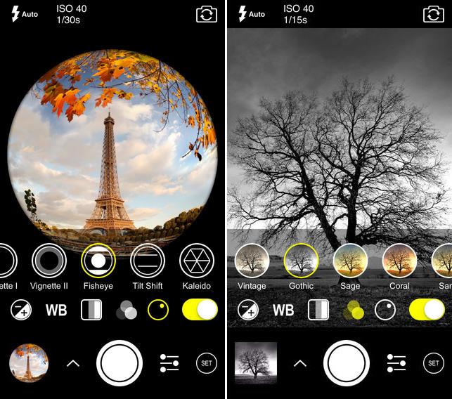 Aplicación de foto ProCam 2