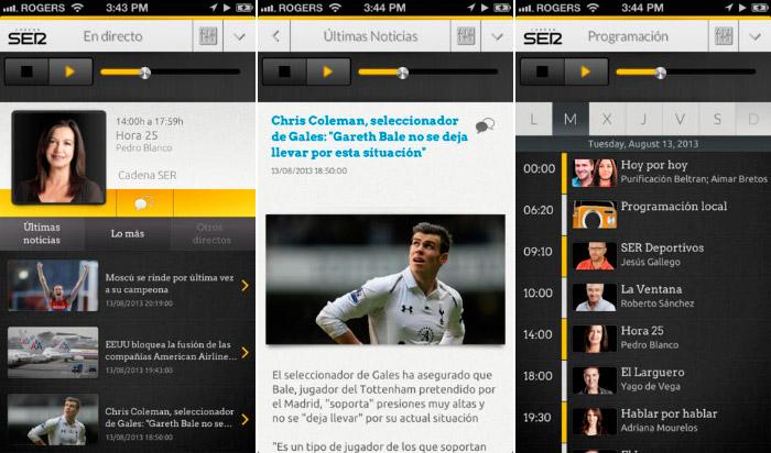 Aplicacion oficial de la Cadena Ser para iPhone y iPad