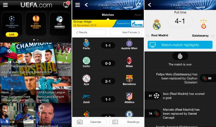 Aplicacion oficial de la UEFA para iPhone y iPad