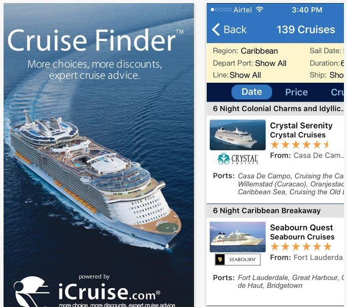 App Cruise finder
