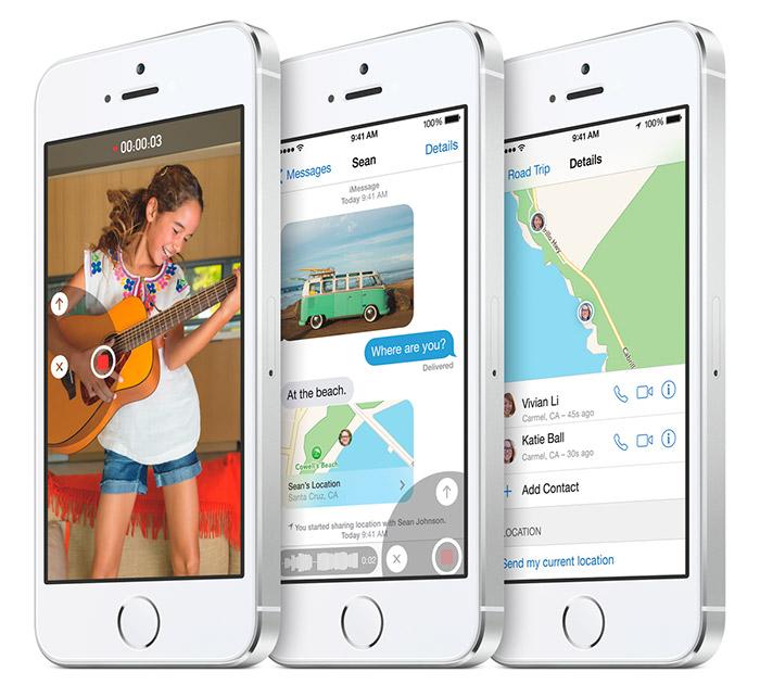 App Mensajes de iOS 8