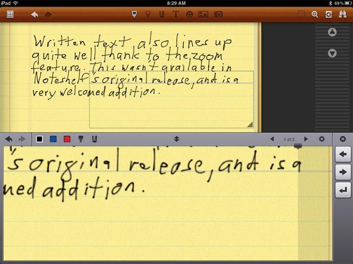 App para tomar notas en iPad