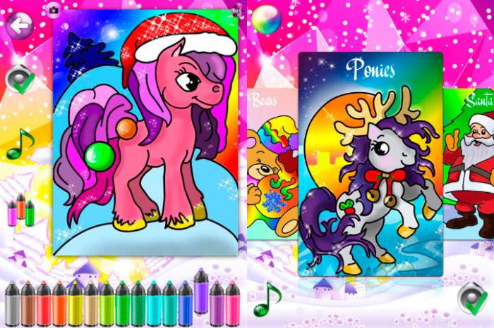 Colorante de la Navidad