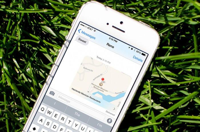 Como compartir tu ubicación con iOS 8