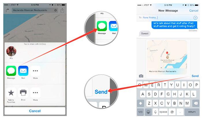 Como compartir tu ubicación en iPhone