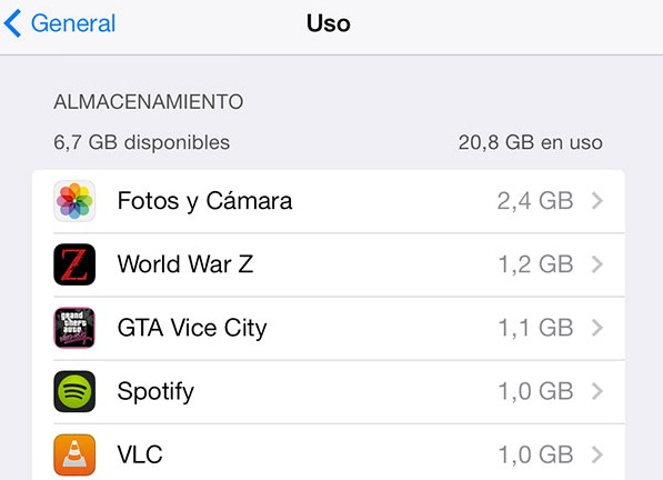 Como limpiar memoria en iPhone y iPad