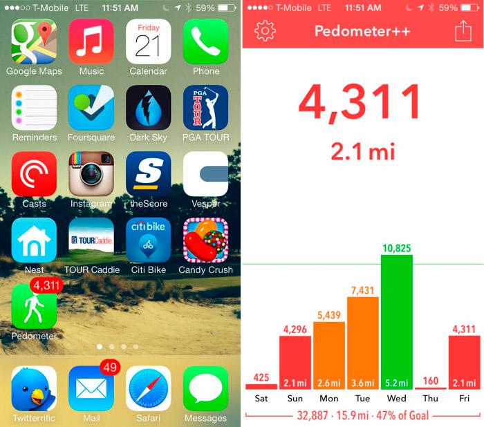 Como medir tus pasos diarios con el iPhone