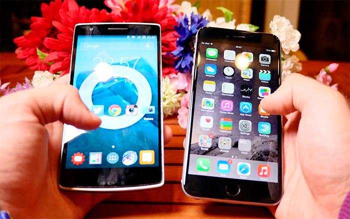 Comparación Sony Z3 vs iPhone 6