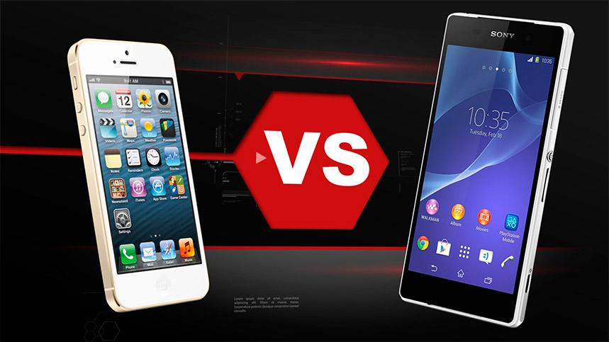 Xperia E Comparativa iPhone 6 v...