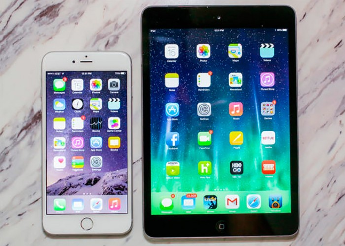 Comparativa iPad Mini 3 vs iPhone 6 Plus