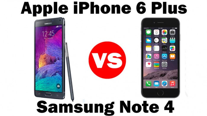 Comparativa iPhone 6 Plus vs Galaxy Note 4