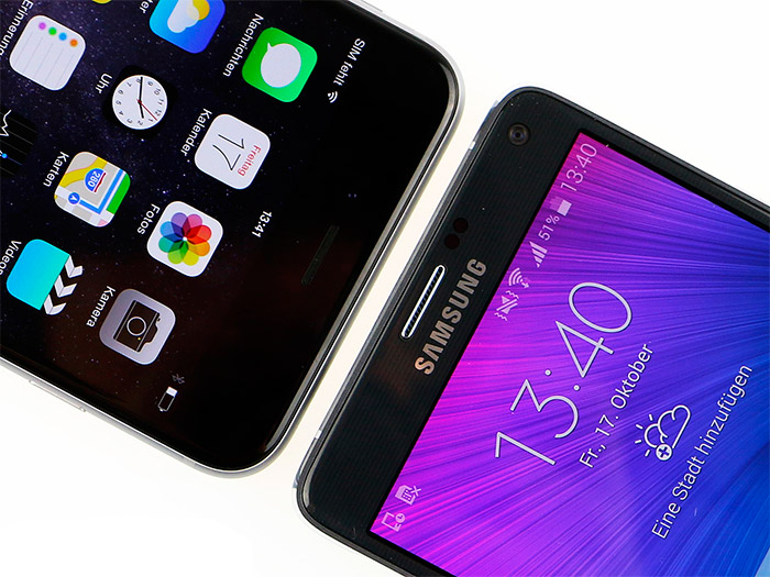 Comparativa iPhone 6 Plus vs Galaxy Note 4 negros