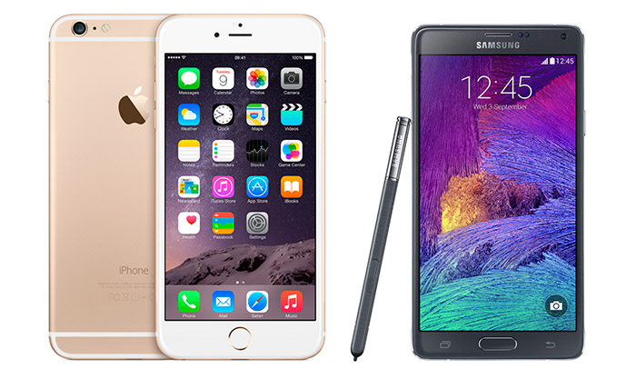 Comparativa iPhone 6 vs Galaxy Note 4