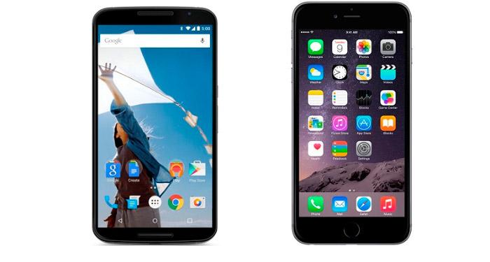 Comparativa iPhone 6 vs Nexus 6