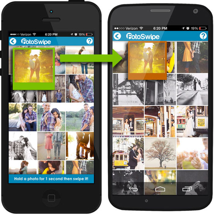Compartir fotos sin Internet con FotoSwipe