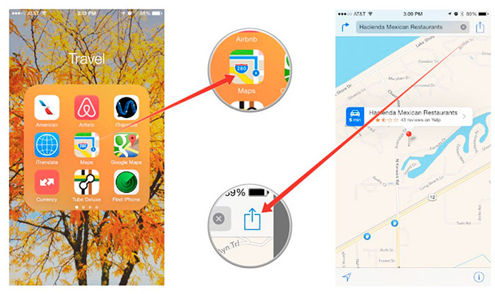 Compartir tu ubicación con iOS 8