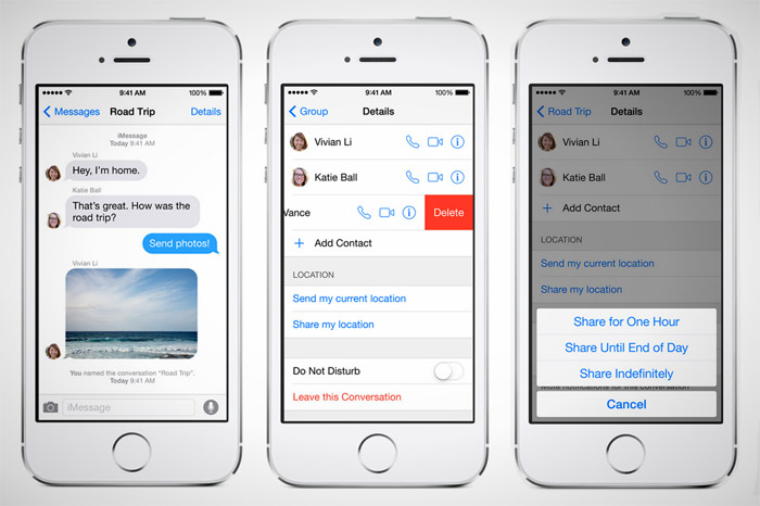 Control avanzado de mensajes de texto en iOS 8