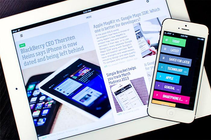 Feedly en iPad y iPhone 6