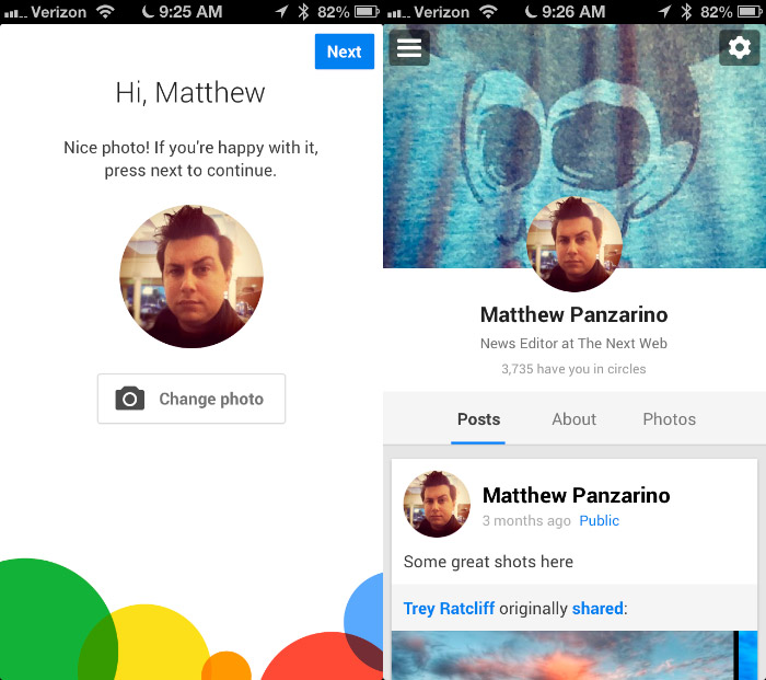 Google+ iPhone 6