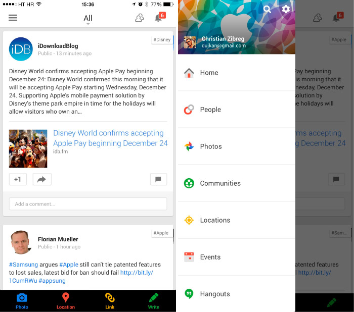 Google+ ya está en iPhone