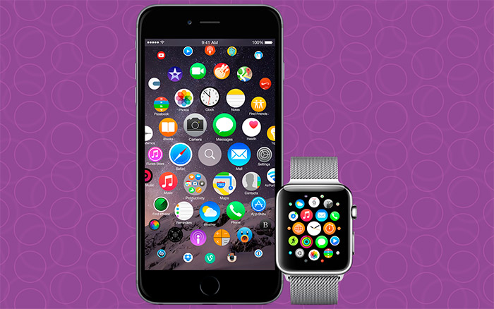 Interfaz de Apple Watch en iPhone