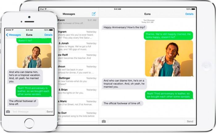 Mandar y recibir mensajes en iPad con iOS 8