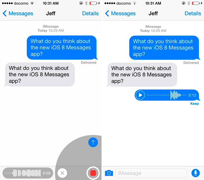 Mensajes en iOS 8