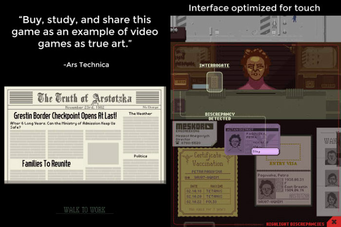 Papers, Please iOS