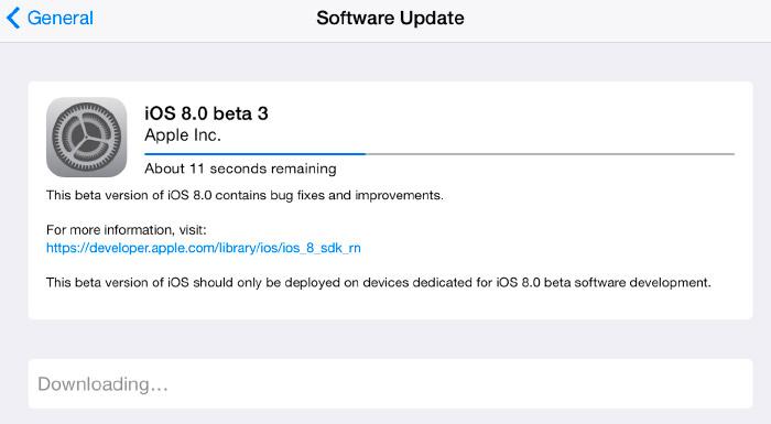 Problemas para actualizar iOS 8
