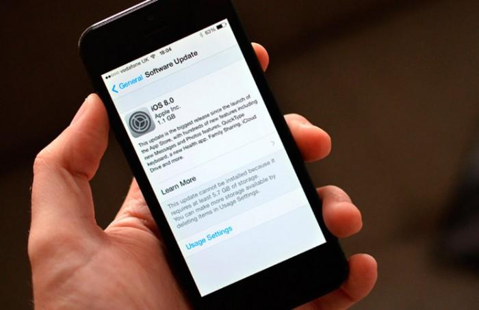Soluciones a los problemas para actualizar iOS
