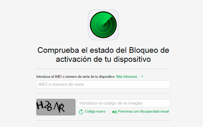 Verificar que un iPhone no está bloqueado