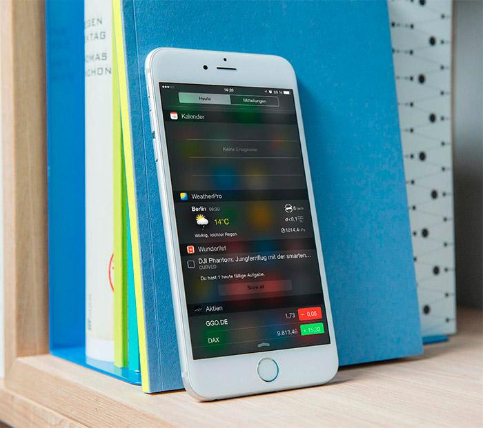 Widgets en iPhone 6