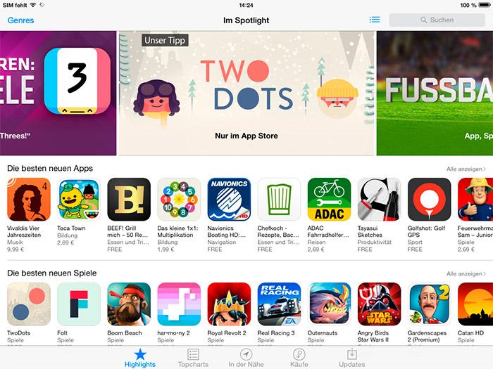 iOS 8 App Store