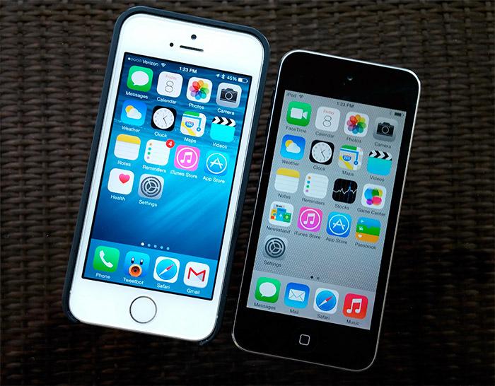 iOS 8 y iOS 7