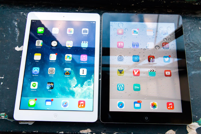 iPad Air 2 negro y blanco