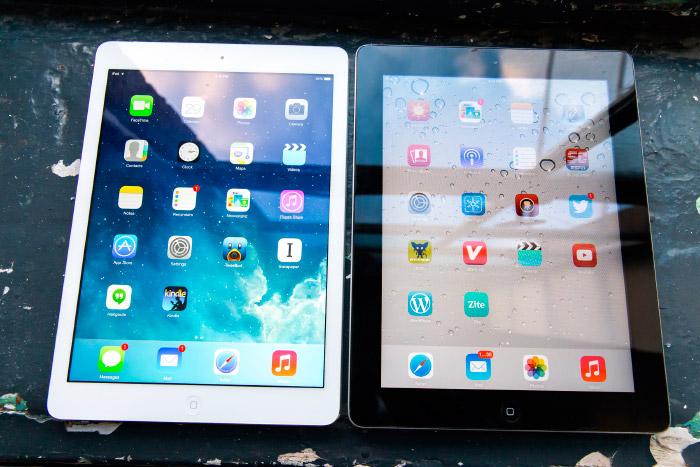 iPad Air 2 negro y blanco