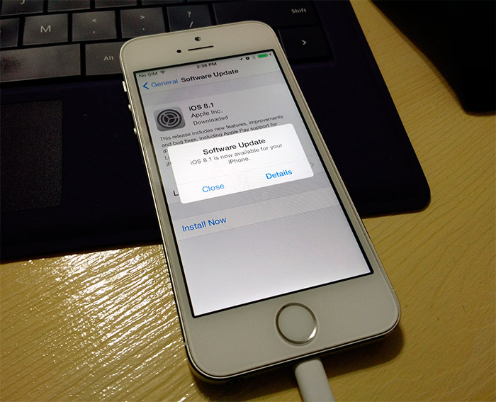 iPhone 5s con iOS 8.1