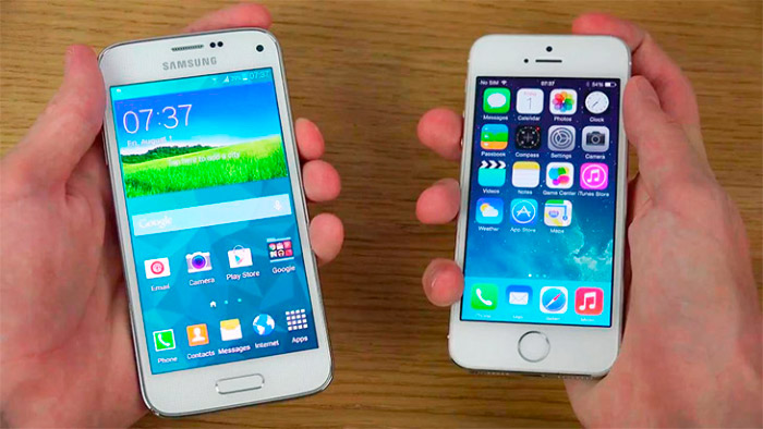 iPhone 6 vs Samsung Alpha